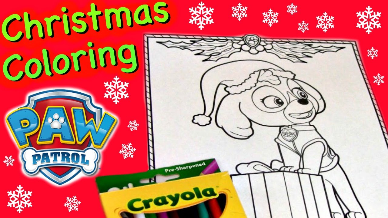 paw patrol coloring pages christmas coloring pages paw patrol skye
