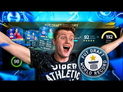 THE IMPOSSIBLE 192 WORLD RECORD FUT DRAFT ATTEMPT!!!  Fifa 16 Ultimate Team
