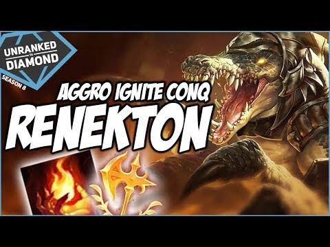 AGGRO IGNITE CONQUEROR RENEKTON - Unranked to Diamond - Ep. 99 | League of Legends thumbnail