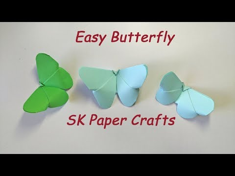 Origami Butterfly || How to make Origami Butterfly(Version 2) || SK Paper Crafts