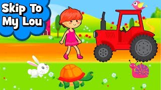 Skip to My Lou my darling with colorful Animals Best Nursery Rhymes & Songs for Children & babies
