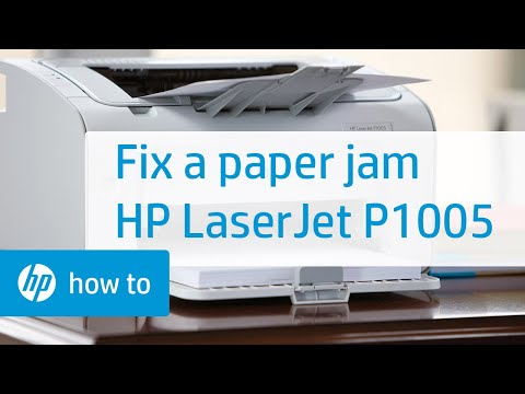 Fixing a Paper Jam - HP LaserJet P1005 Printer