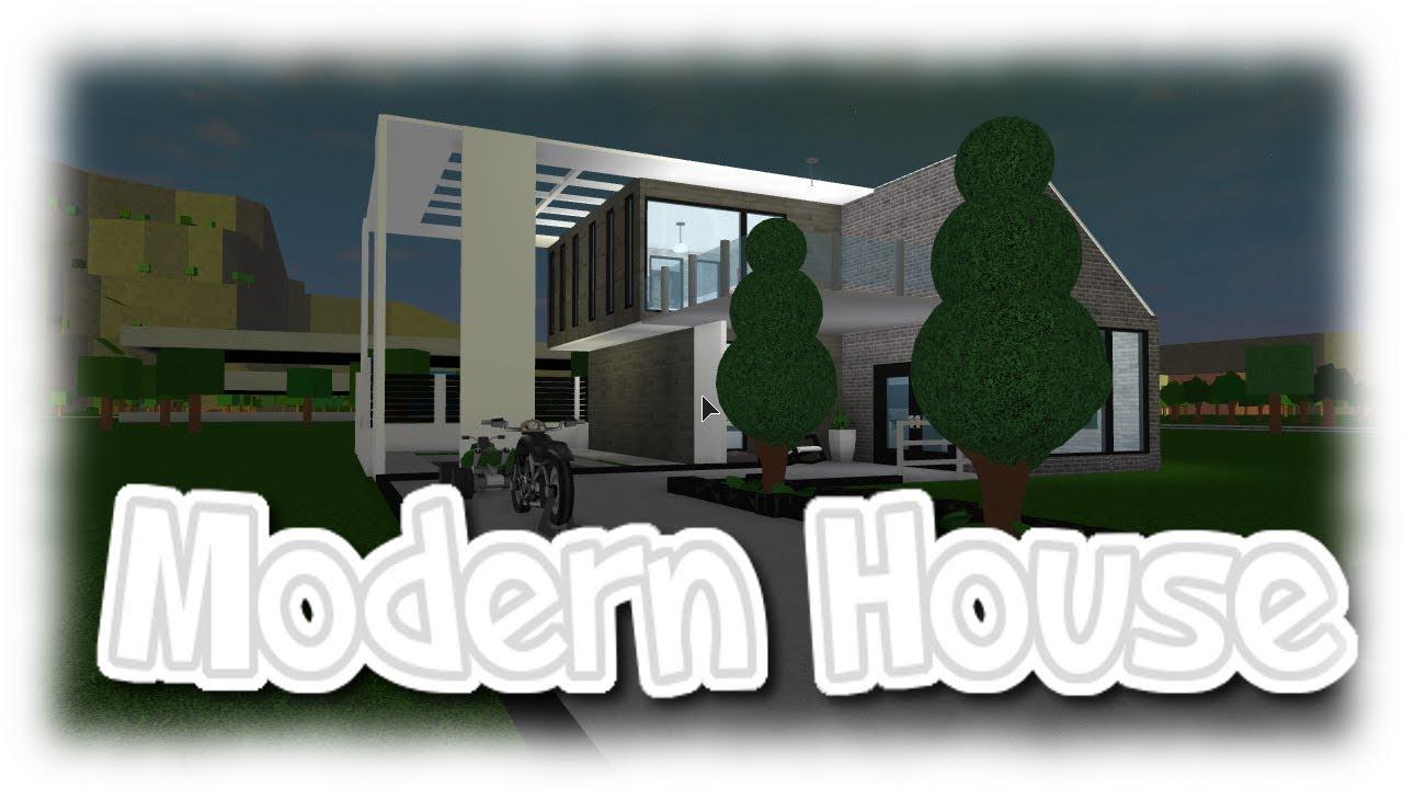 Roblox modern house bloxburg youtube for Modern house 7 part 2