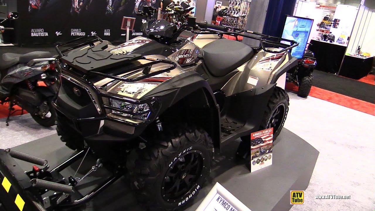 2016 Kymco MXU 700i LE EPS Utility ATV with snow kit - Walkaround ...