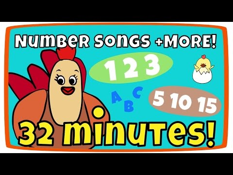 Counting from 1-10 song, Rainbow Colors + more | Kids Song Compilation | The Singing Walrus