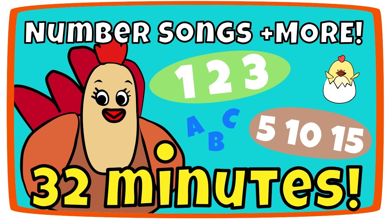 Counting From 1 10 Song Rainbow Colors More Kids Song Compilation The Singing Walrus Youtube