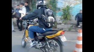 Prova prática de moto no Detran de Campo Grande - RJ (SIMULADO)