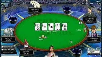 Final Table of Online Poker tournament (1 of 3)
