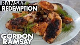 Can A MasterChef Contestant Turnaround A Chicken Dish Burned By Gordon Ramsay? | Ramsay Redemption