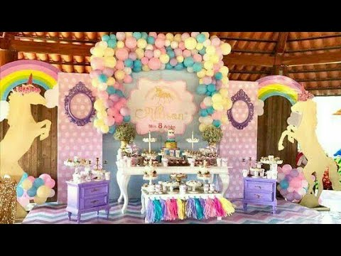 Fiesta d unicornios party girls unicorns mesa de dulces for Decoracion para mesa dulce
