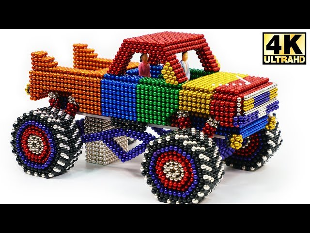 DIY - How To Make Monster Truck with Magnetic Balls Satisfaction 100% (ASMR) | Magnetic Man 4K