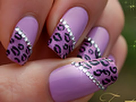How To Nail Art Pink Leopard Youtube