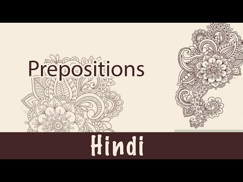 Hindi - Prepositions  What is Preposition  Hindi Language