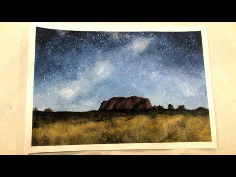 Acrylic Uluru/Ayers Rock Painting Time Lapse | Opavia