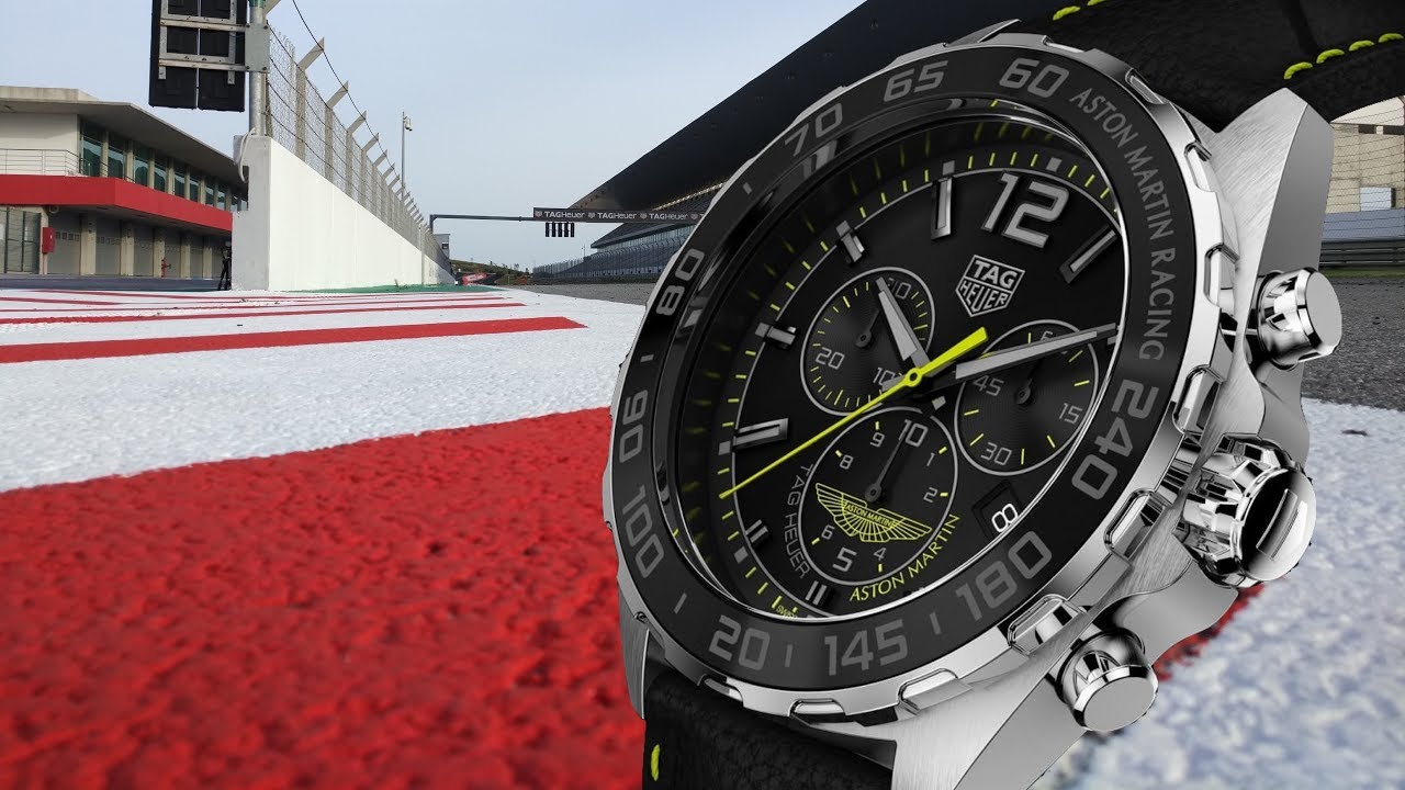 Review Tag Heuer Formula 1 Chronograph Aston Martin Racing Limited Edition Youtube