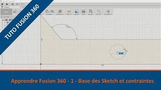 ⚙️ Découvrir Fusion 360 - Tutoriel 1 - Bases des sketch