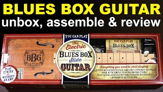 Blues Box Guitar, the BBG slide guitar. Unboxing, assembly and review.
