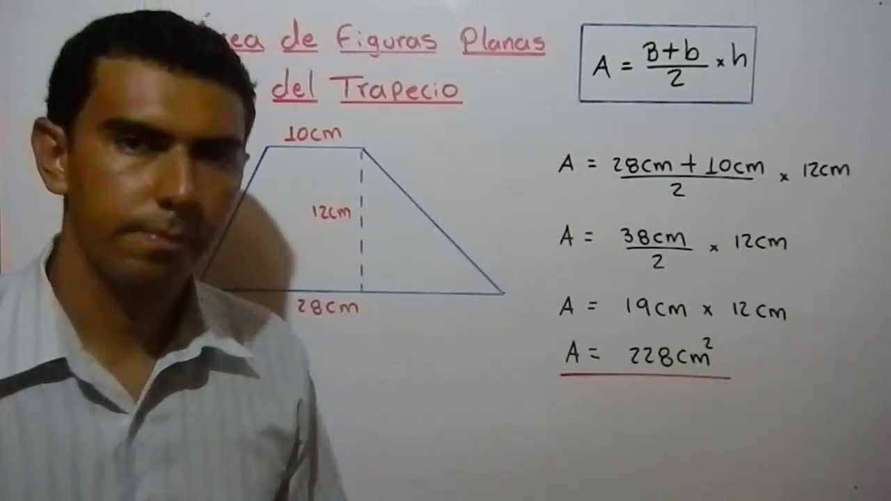 Cómo Calcular El área Del Trapecio Ejemplo 8 Youtube