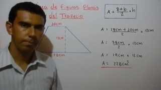 Cómo calcular el área del trapecio. Ejemplo 8