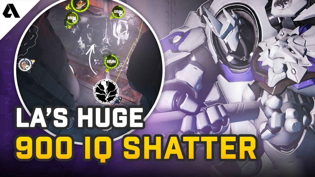 LA Gladiators' 900 IQ Earthshatter Flank - Pro Overwatch Micro Plays