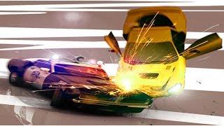 Smash Cops Heat #2 Игра мультик про полицейскую машинку полицейская погоня за бандитами много машин