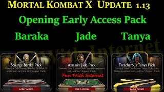 Opening Early Access Packs MKX Mobile Update 1.13 (Actual Player Cost)