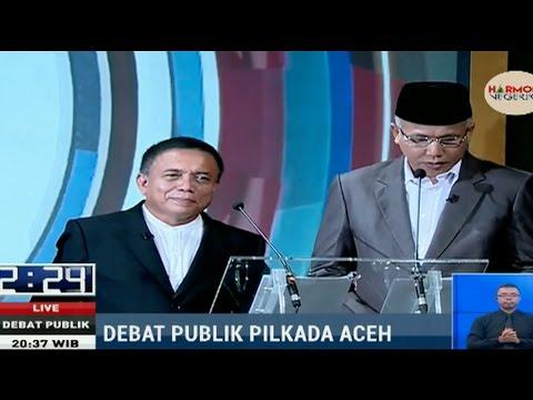 Aksi Eks Juru Runding GAM Saat Debat Publik Pilkada Aceh