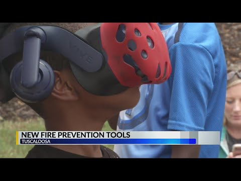 Rob and Hilary - Virtual reality used for Fire Prevention Week in Tuscaloosa