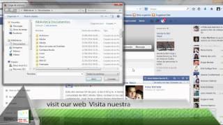 Como enviar archivos por facebook