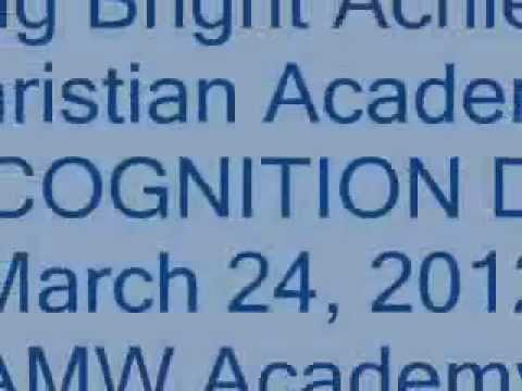 Recognition Day @ Young Bright Achievers Christian Academy Inc