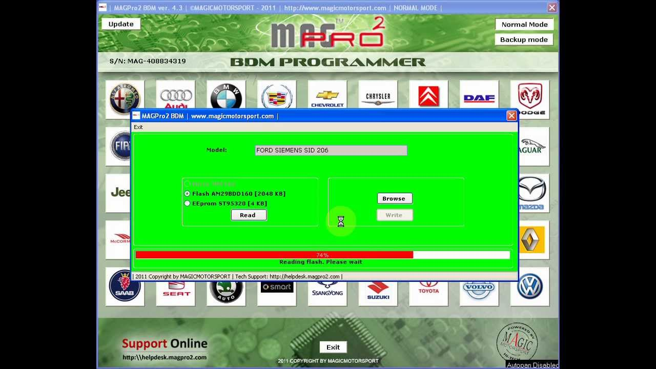 Magpro2 BDM V.4.3 Siemens SID206 Ford