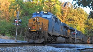 CSX Freight Train With DPU's In Woodbine, Maryland