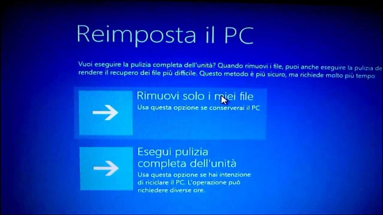 guida noob ita ripristinarereimpostare riciclare windows da pendrive usb youtube