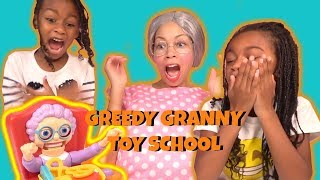 Greedy Granny IRL Goes to Toy School ! New Teacher Clumsy Grandma
