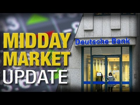 Midday Report: Stocks Retreat From Rally as Deutsche Bank Tumbles
