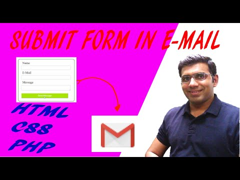 How To Submit Form Data In Email   HTML CSS And PHP