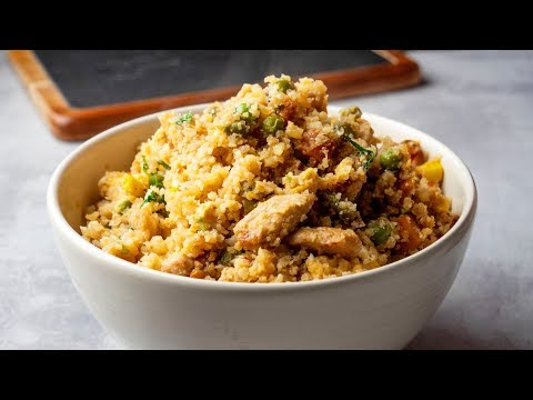 15 Minutes Cauliflower Chicken Fried Rice