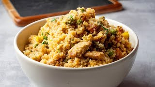 15 Minutes Cauliflower Chicken Fried Rice