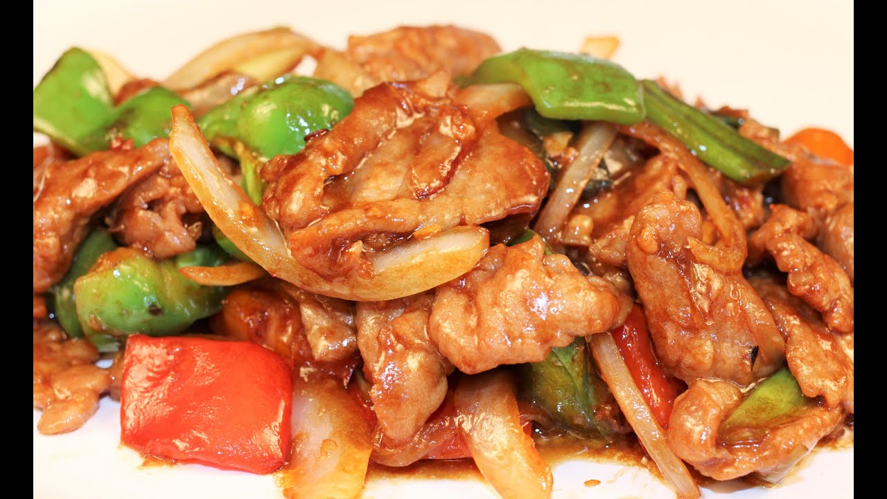 Chinese pepper steak recipe chinese food dinner for 2 youtube forumfinder Images