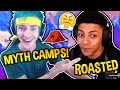 NINJA SAYS MYTH'S A CAMPER!! MYTH ROASTS HIM BACK! FORTNITE BEEF! Fortnite SAVAGE Moments!