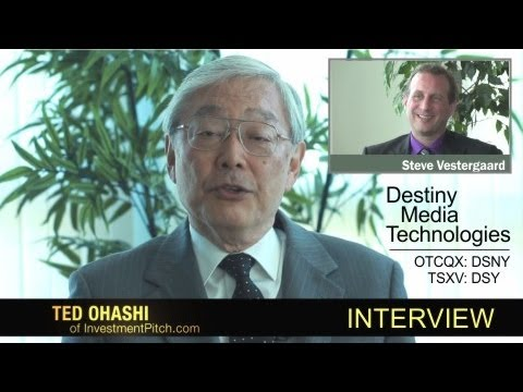 Destiny Media Technologies (OTCQX: DSNY) Interview with Ted Ohashi as stock rises strongly.