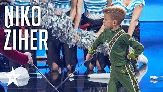 Niko Žiher fights Captain Hook with his amazing dance moves│Supertalent 2018│Semi-Finals