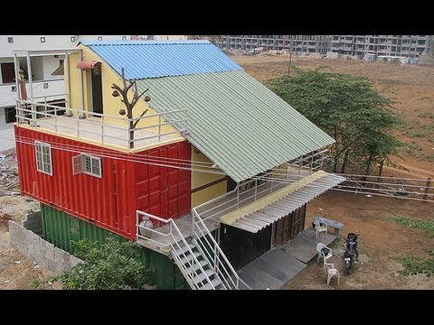 India 39 s first container home youtube House architecture chennai