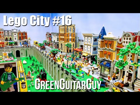 Lego City Update 16 We Made The News!- GreenGuitarGuy