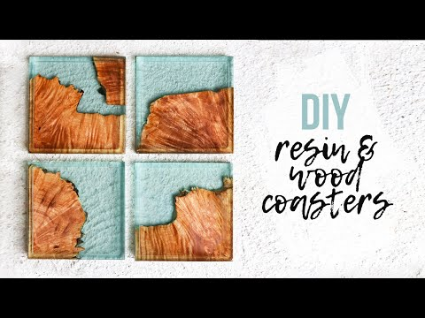DIY Epoxy Resin & Wood Coasters | How To