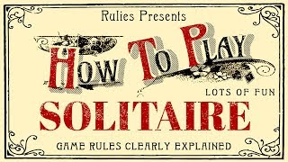 How To Play Solitaire with Cards (Klondike)