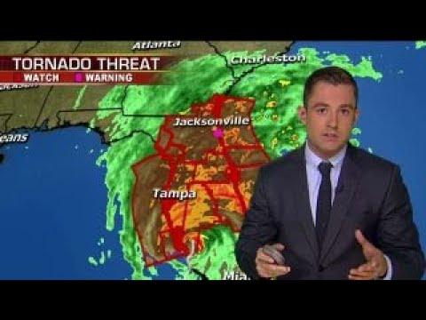 Hurricane Irma churns up Florida coast as category 2 storm