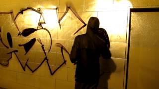 Rasko Bombing. Chrome painting Graffiti.