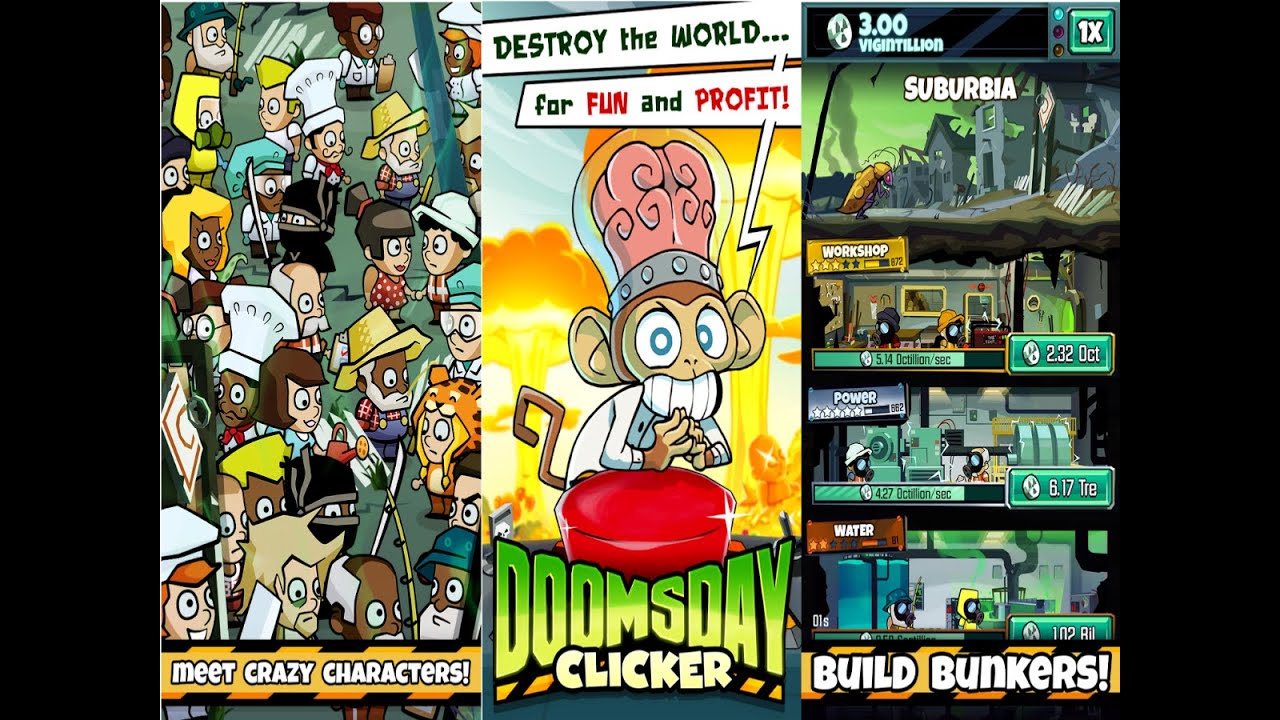 doomsday clicker android gameplay youtube