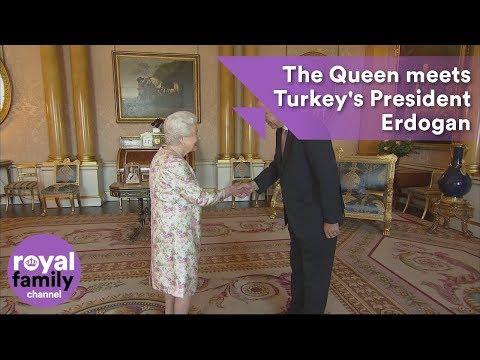 The Queen meets Turkey's President Erdogan at Buckingham Palace